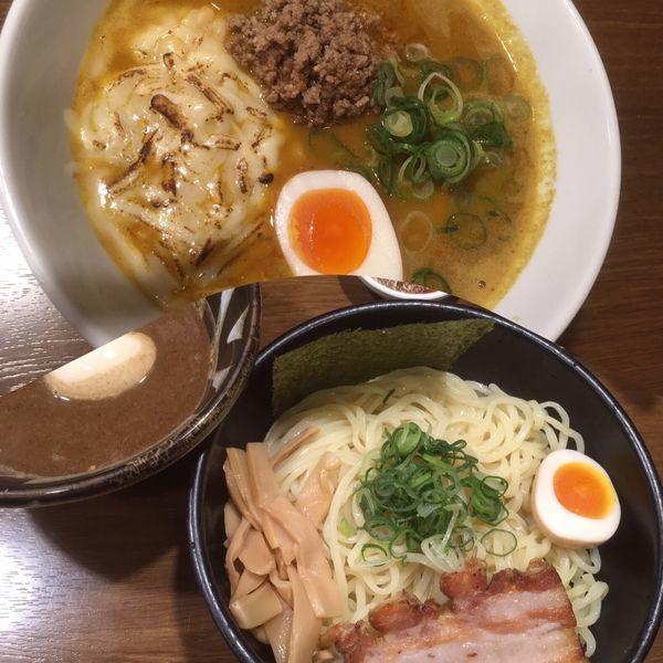 「つけ麺醤油+味玉  ((相方が注文)カレーラーメン)」@らあめん こそっとの写真