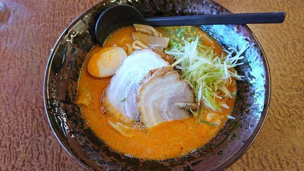 「スーパー担々麺 880円」@手打ちラーメン珍来 市原店の写真