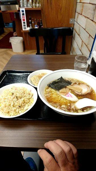 「ラーメン定食850円」@佐野金 総本店の写真