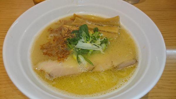 「鶏白湯 メンマ」@拉麺 弁tenの写真