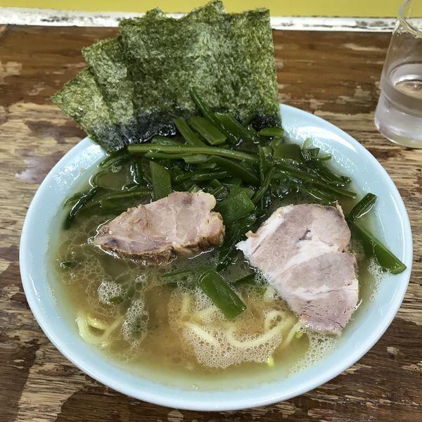 「ラーメン(¥700)+クキワカメ(¥200)」@まこと家の写真