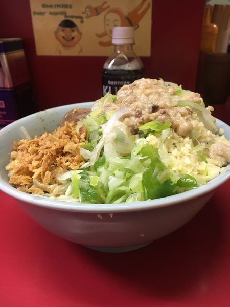 「小ラーメン➕ ねぎ汁なし  ニンニク➕ アブラ」@ラーメン二郎 中山駅前店の写真