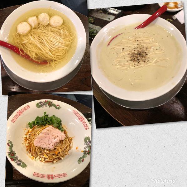 「牡蠣のクリーミーべジそば 他いろいろ」@立ち呑み居酒屋 金町製麺の写真