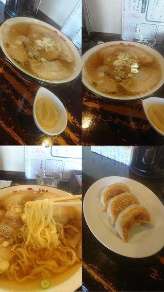 「『チャーシュー麺+餃子3個+おろしニンニク』」@麺や 雷桜の写真