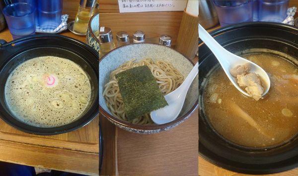 「『淡口つけめん 中(¥780)』を太麺&冷盛」@つけめん処 あすなろ食堂の写真