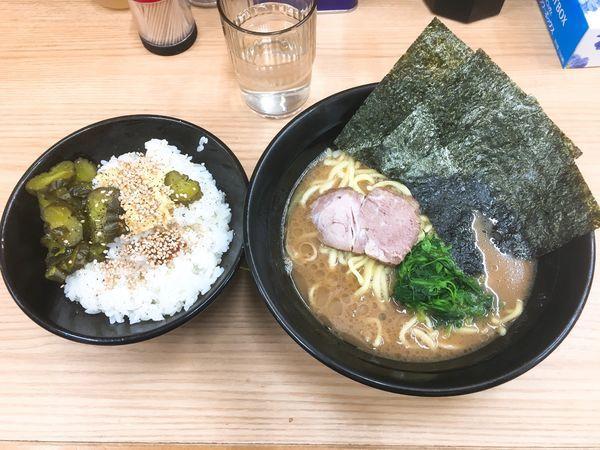 「ラーメン/¥650」@横浜ラーメン 武蔵家 御茶ノ水店の写真
