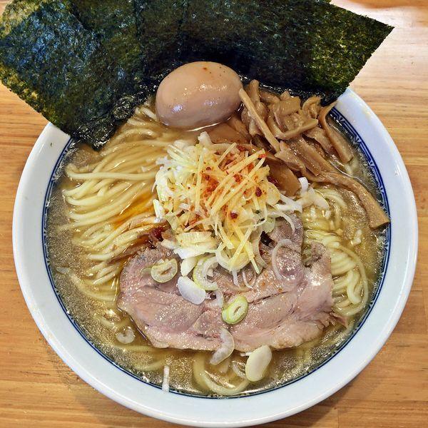 「味玉塩ラーメン(中)+海苔¥1000」@自家製中華そば としおかの写真