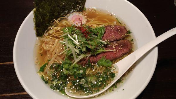 「牛麺」@らーめん 鷹の羽の写真