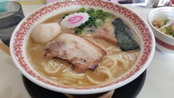 「濃厚魚介拉麺 大 味玉トッピング」@麺肴ひづき あさのやの写真