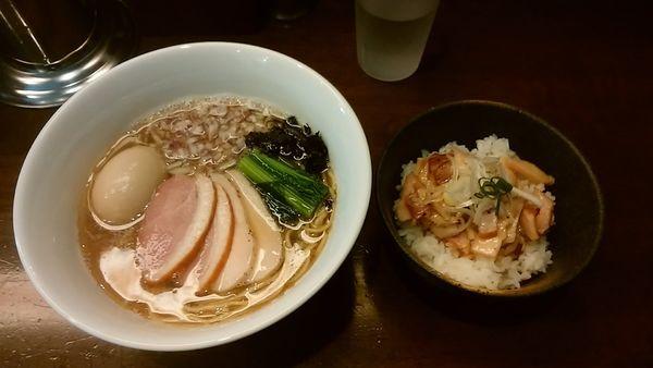 「特製煮干し中華そば(1000円)」@煮干し中華そば龍壽の写真