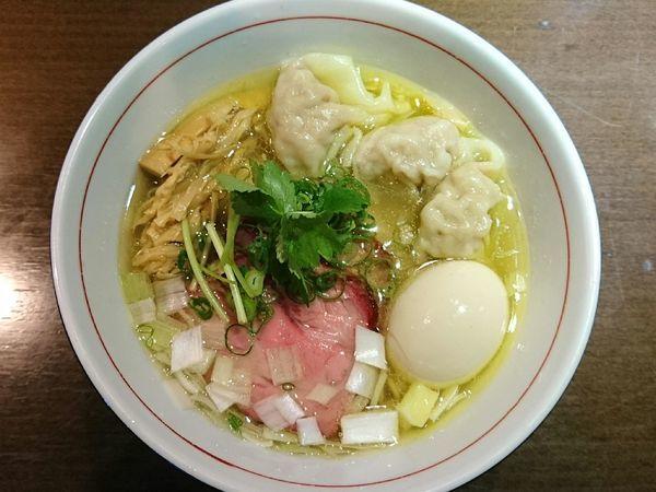 「地鶏中華そば(塩、細麺)」@麺や 虎徹の写真