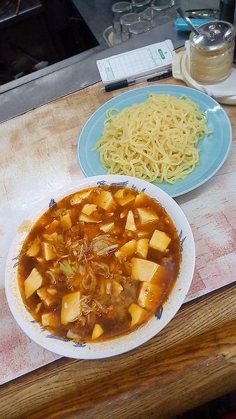 「マーボーつけ麺680円」@弥生亭の写真