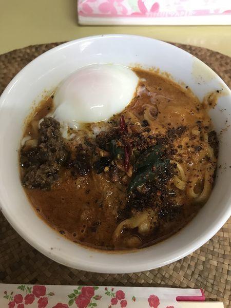 「黒カラシビ麺+大盛(¥750+¥100)」@龍門瀑の写真