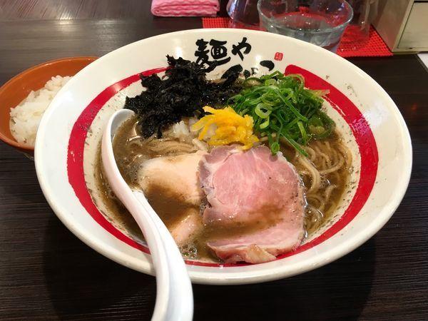 「【限定】濃厚牡蠣そば+白飯」@麺や でこの写真