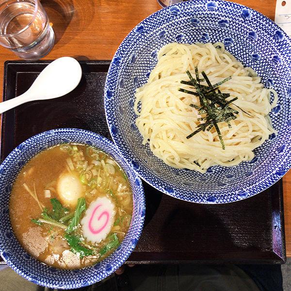 「つけそば(並盛)+味玉」@つけそば まき野 池尻大橋店の写真