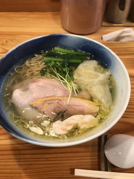 「105塩ラーメン¥1.000 メンマ¥250」@自家製麺ばくばくの写真