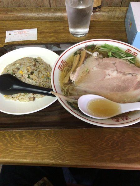 「たけやセット➕麺固め」@らぁめん たけやの写真