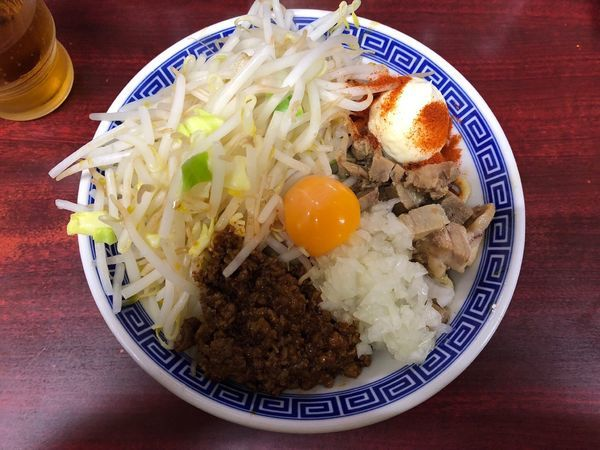 「まぜそば  ゴマ味噌」@明神角ふじの写真