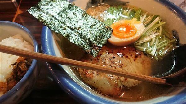 「柚子塩らーめん」@AFURI 恵比寿の写真