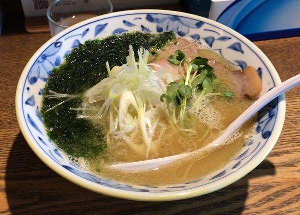 「青海苔らーめん(期間限定)塩(850円)」@麺部 しば盛の写真