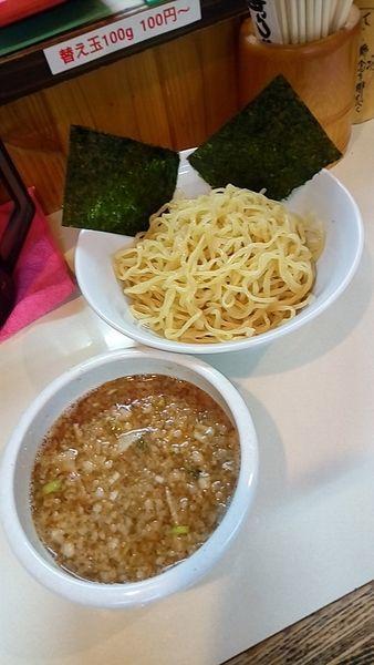 「三刀流かさね味わいつけ麺750円」@麺屋 賢太郎の写真