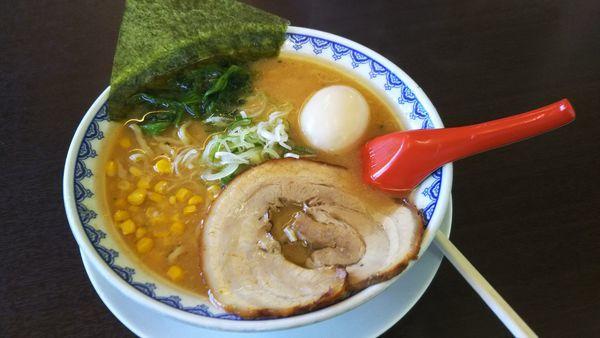 「味噌ラーメン 750円」@やまがた辛味噌らーめん 三男坊 福島飯坂店の写真