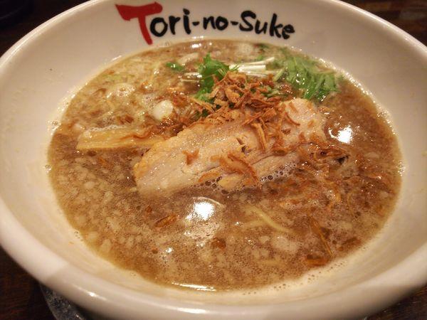 「鶏醤油+半チャーハン」@とりの助 上里店の写真