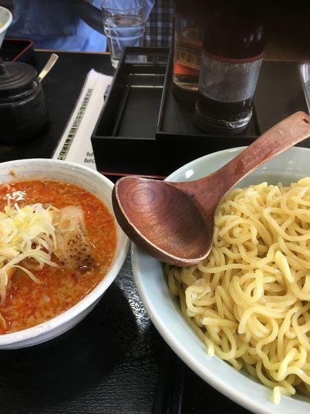 「ピリ辛つけ麺特盛」@麺屋 彬の写真