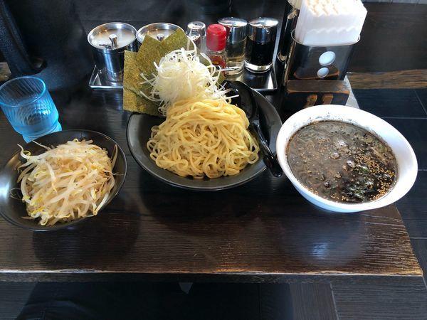 「一遊つけ麺(太麺)+ネギ+モヤシ」@ラーメン 一遊の写真
