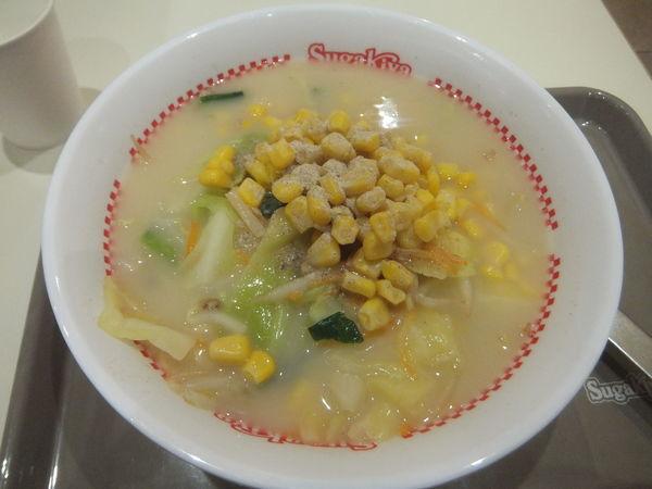 「でら盛野菜ラーメン490円」@スガキヤ 大垣イオンタウン店の写真