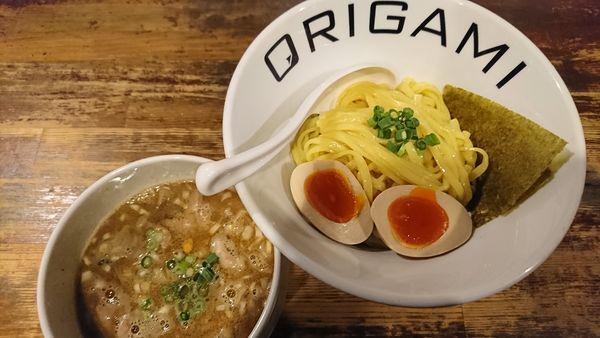 「味玉ORIGAMIつけ麺(900円)」@麺屋 ORIGAMIの写真