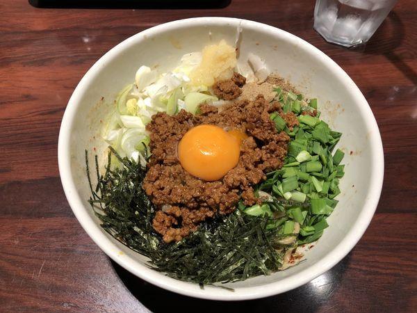 「台湾まぜそば 750円」@づけ麺  秀 中野店の写真