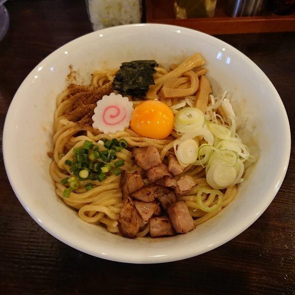「まぜそば  @700円+麺大盛り  @100円」@RamenStop BONの写真