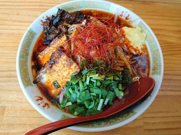 「辛二郎(とろり、ショウガ、アブラ)+辛さ増し」@中華麺酒家 からっ風の写真