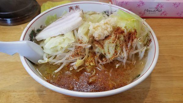 「4月限定 桜えび二郎 中 野菜増し」@らぁめん 鶏支那屋の写真