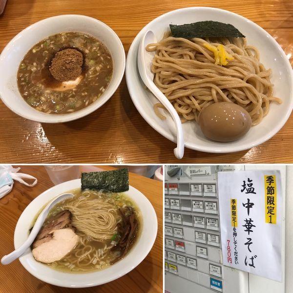 「つけそば+味玉(クーポン)」@下町中華そば すずめ食堂の写真