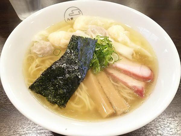 「特製ワンタン麺 白だし」@八雲の写真