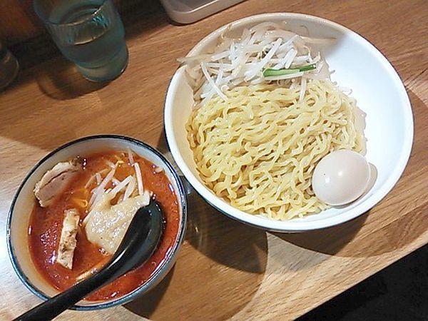 「辛味噌つけめん(野菜大)+味玉」@味噌麺処 楓の写真