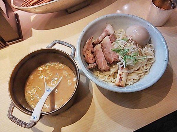 「味玉チャーシューつけ麺1.5玉(ゆず麺)」@麺や 高倉二条の写真