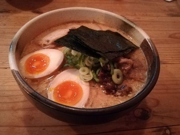 「4/20特製鶏白湯中盛300グラム1,000円」@吉田製麺店の写真