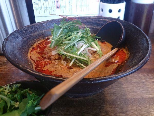 「担々麺(2辛)+パクチー」@神泉のらぁめん屋 うさぎの写真