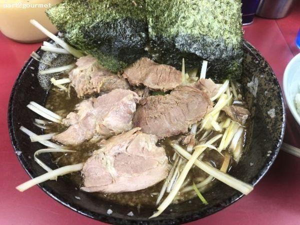 「和風ネギチャーシューメン 太麺 (890円)」@ラーメンショップ 牛久結束店の写真