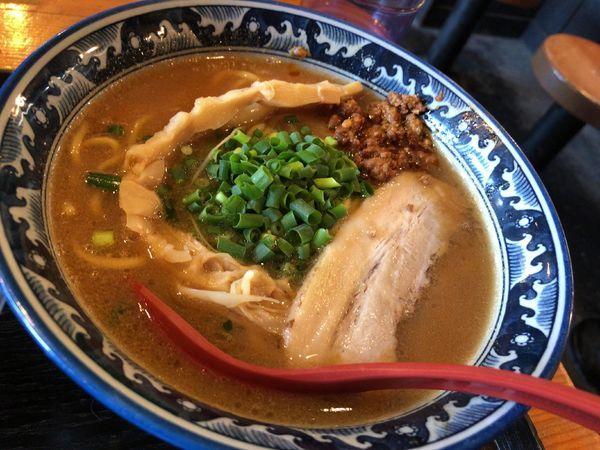 「安養寺らうめん+辛挽き肉丼」@麺匠 佐蔵 佐久店の写真