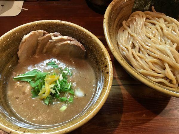「肉入りベジポタつけ麺(¥990)」@麺屋 えん寺の写真