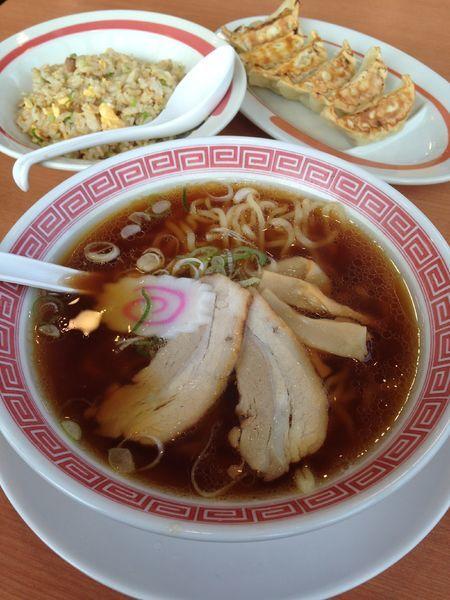 「新・極上中華そば 炒飯セット」@幸楽苑 吹上店の写真