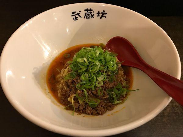 「担担麺 濃厚胡麻 ハーフ  350円」@汁なし担担麺 武蔵坊の写真