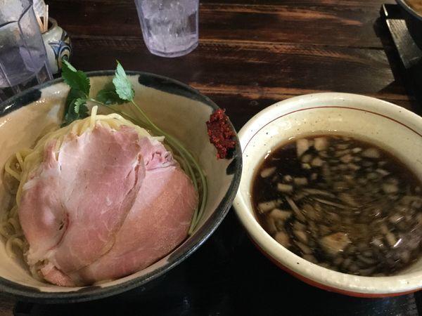「つけそば(梅こぶ茶風味)700円」@仮麺中(ぬちぐすい)の写真