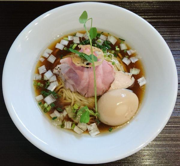 「鶏と水(醤油)+味玉」@つくばらーめん 鬼者語 -オニモノガタリ-の写真