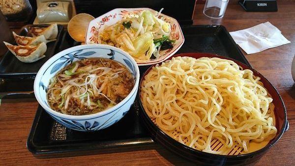 「肉野菜つけ麺」@北海道らぁめん 伝丸 1国四日市三ツ谷店の写真