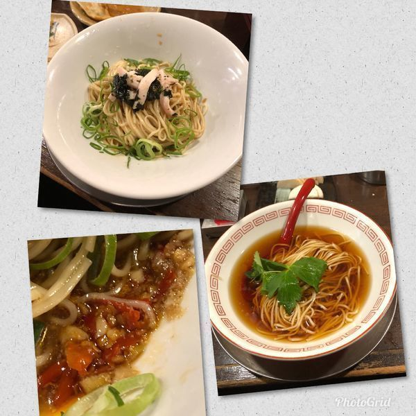「冷たいそば2品」@立ち呑み居酒屋 金町製麺の写真